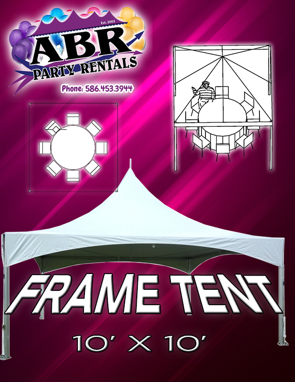 10 x 10 Frame Tent Classic Top