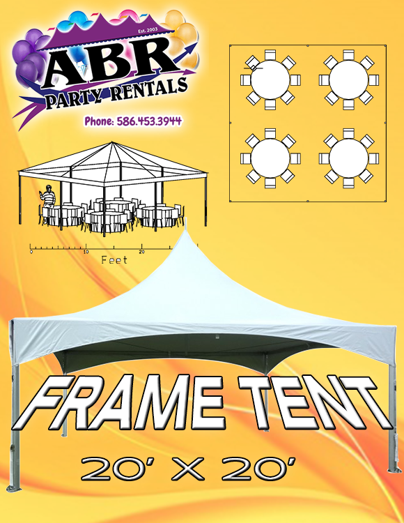 20 x 20 High Peak Frame Tent