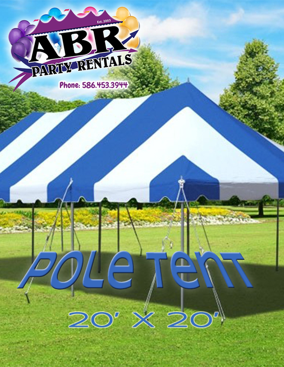 20 x 20 Blue White Pole Tent