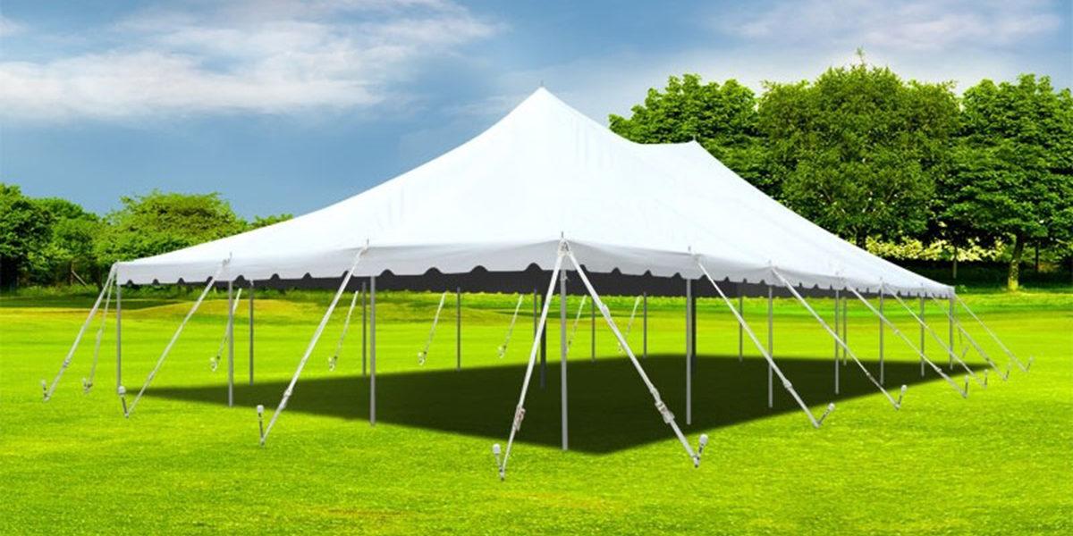 20 x 20 White Pole Tent