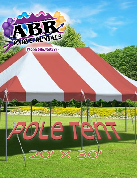 20 x 30 Red White Pole Tent