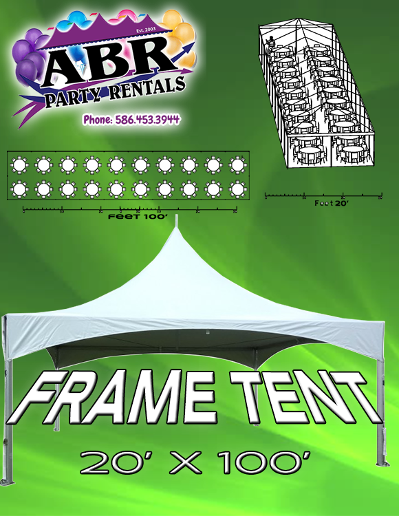 20 x 100 Frame Tent