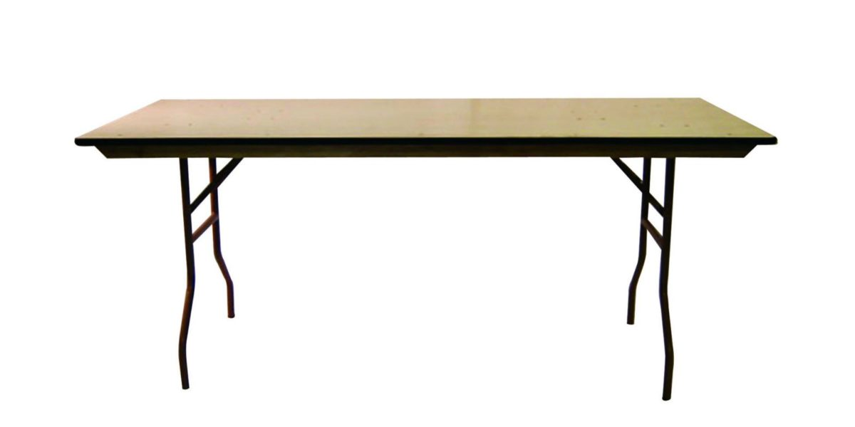 6 foot Banquet table