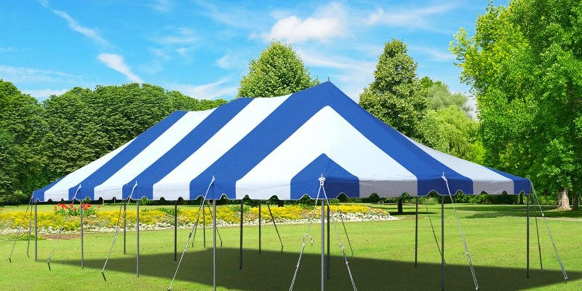 Pole Tent Blue